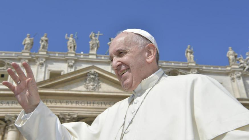 Paus Franciscus tijdens de algemene audiëntie © Vatican Media