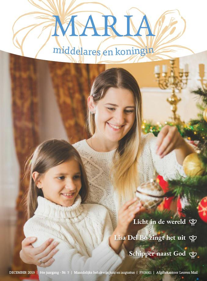 De cover van het decembernummer van Maria, middelares en koningin, het tijdschrijft van de montfortanen © Maria, Middelares en Koningin