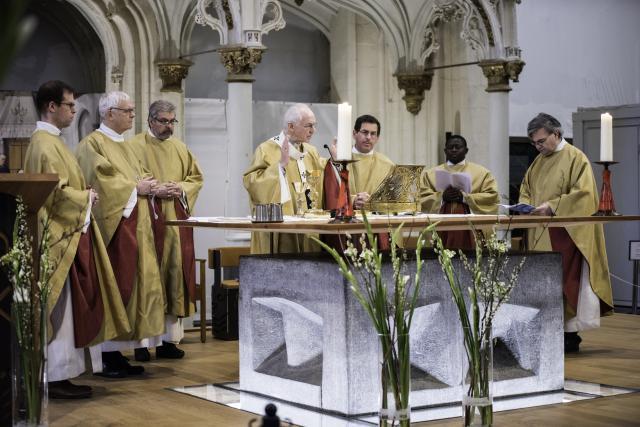 Het patroonsfeest van de KU Leuven opende als vanouds met een eucharistieviering in de Sint-Pieterskerk © KU Leuven – Michael De Lausnay