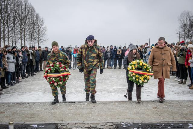 Voor generaal Marc Compernol is Auschwitz een verschrikkelijke plaats, maar ook een plaats van hoop © Erwin Ceuppens - Belgian Defence