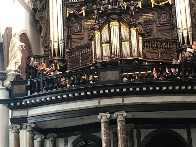 De Sint-Paulus Sinfonietta en Camerata onder leiding van Ivo Venkov op het doksaal van de Sint-Paulus in Antwerpen © Benoit Lannoo