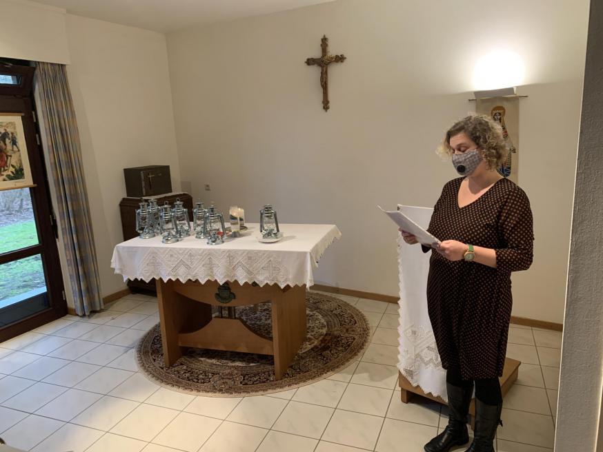 welkom bij overdracht Licht van Betlehem vicariaat Kempen © bisdom Antwerpen