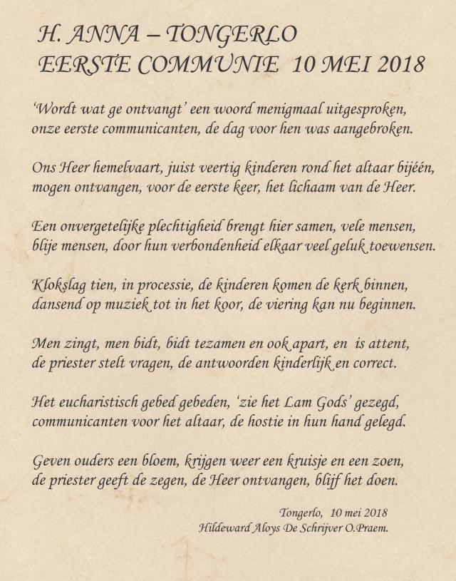 Eerste communie Tongerlo 2018 © HT