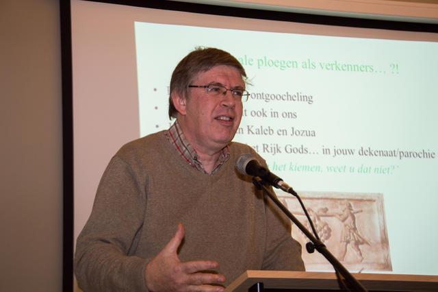 Marc Peersman bracht bij het begin van de dag een Bijbelse bezinning  © Bisdom Gent, foto: Karel Van de Voorde