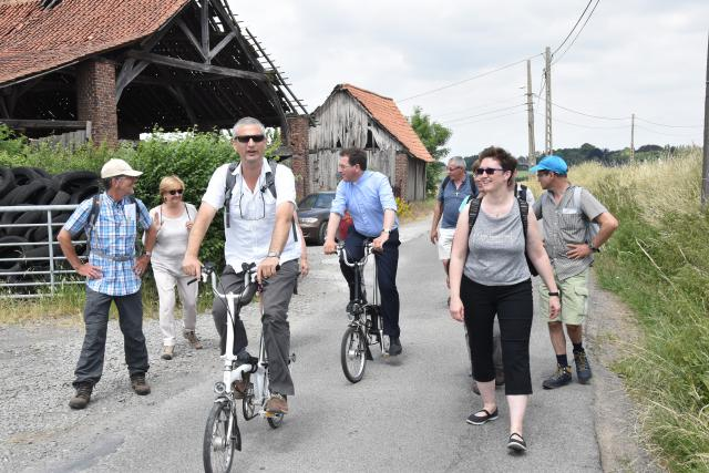 Op naar een volgende stop - Stijn Van den Bossche (ICC) neemt de kop. © PDL