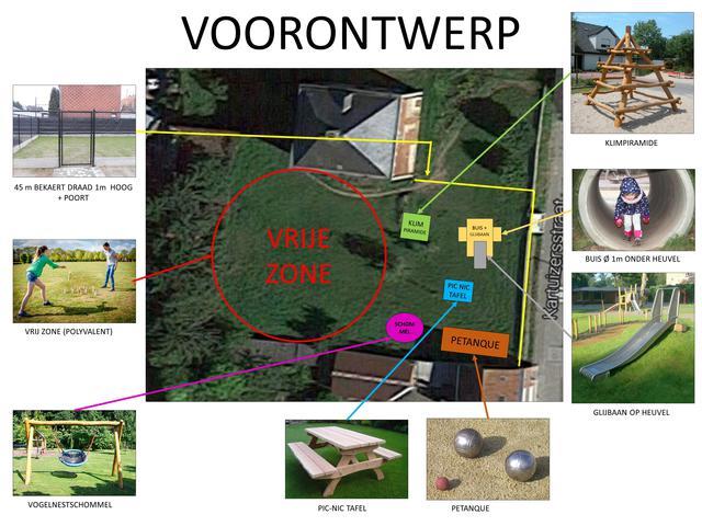 Voorontwerp Speelplein Blanden - Dia 3 © Gemeente Oud-Heverlee