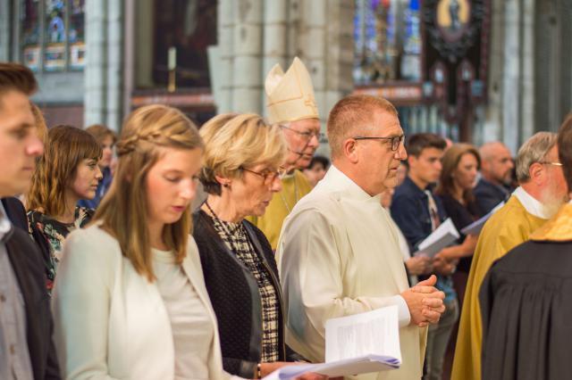Martin en Ann - diakenwijding 2017 © Bisdom Gent, foto: Karel Van de Voorde