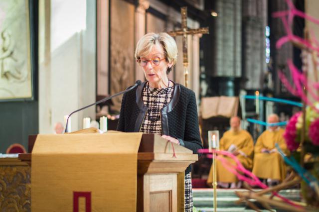 Tweede lezing door Anne Van Hemelryck - diakenwijding 2017 © Bisdom Gent, foto: Karel Van de Voorde