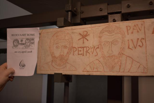 Een herkenbare afbeelding in het Vaticaans Museum  © Johannes 23 seminarie