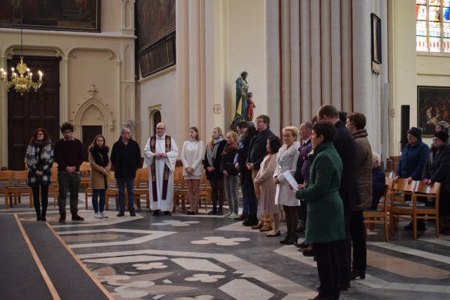 de doopleerlingen en hun begeleiders © Inge Cordemans