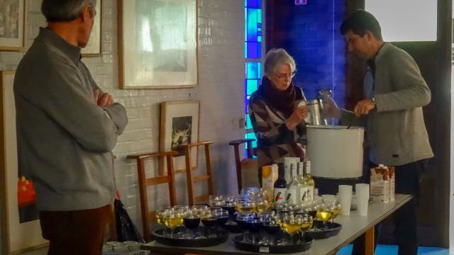 En na de viering is er natuurlijk een pannenkoekje (en een drankje ;-)