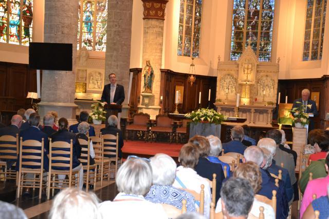 Mis ter herdenking van de heiligverklaring van Pater Damiaan op 13 oktober 2019 in de Sint-Pieterskerk in Tielt. © Hein Samyn