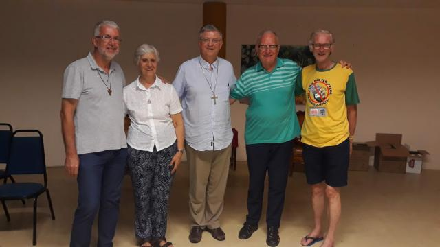 De vier Antwerpse missionarissen in Brazilië  © Mgr. Johan Bonny