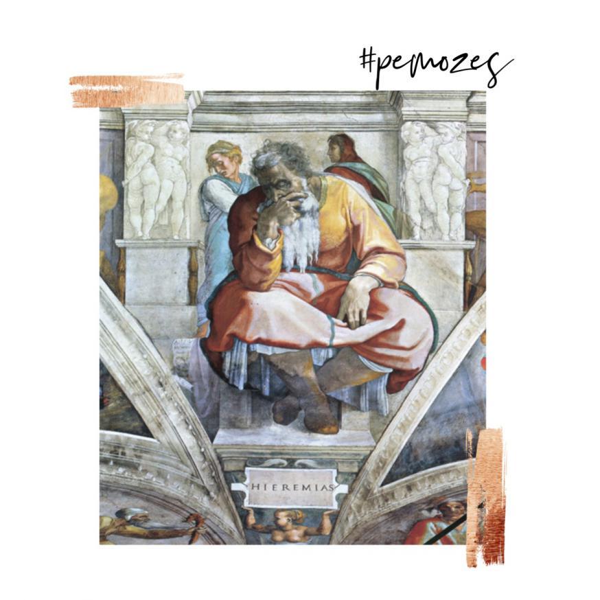 Gedachte op zondag © 'De zwaar beproefde profeet', Jeremia van Michelangelo, fresco 1508-1512, Sixtijnse Kapel