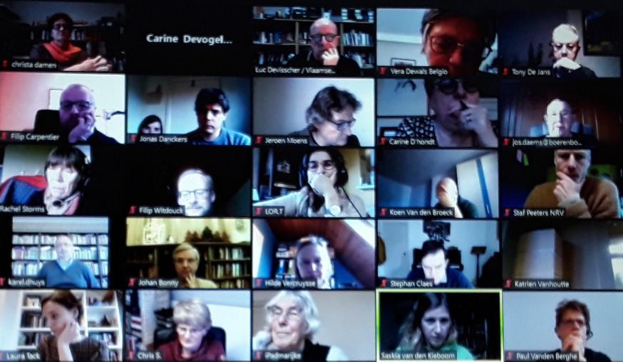 Enkele deelnemers aan het onlineforum van het Interdiocesaan Pastoraal Beraad van zaterdag 5 december 2020 © IPB