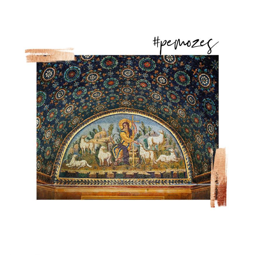Gedachte op zondag © 'De goede Herder', mozaïek in het Mausoleum van keizerin Galla Placida, Ravenna, ca. 40