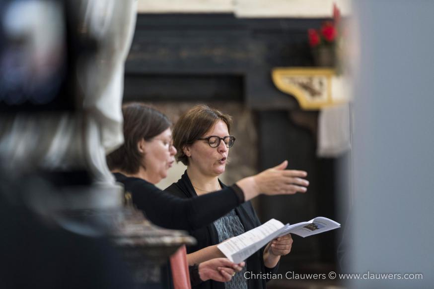 Katrien Van de Weghe en Veronique Wetzels, koor van Sant'Egidio © Christian Clauwers
