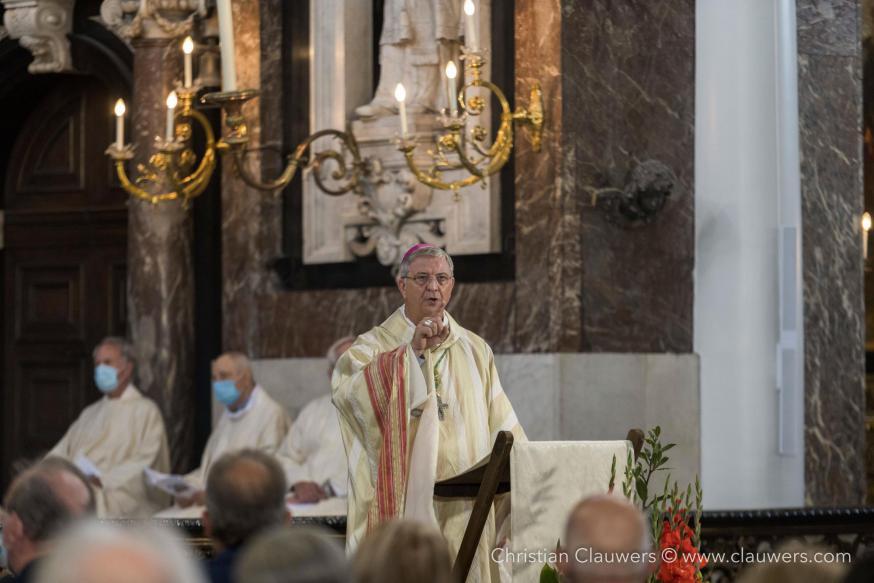 Bisschop Johan Bonny tijdens de homilie © Christian Clauwers
