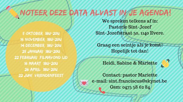 Flyer data © Joke De Waele