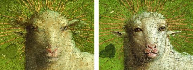 Gerestaureerde Lam © Sint-Baafskathedraal - www.lukasweb.be - Art in Flanders vzw.