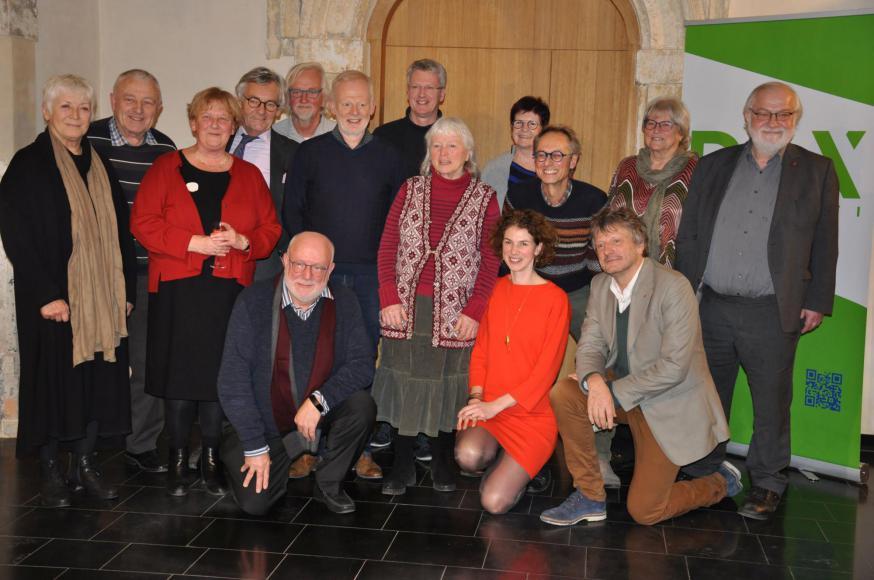 Een mooie delegatie Ambassadeurs voor de Vrede van de afgelopen twintig jaar  © Anne Vansteelandt