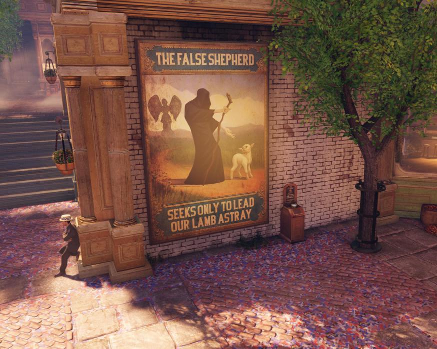 'In games als BioShock Infinite speelt het religieuze een belangrijke rol in de spelervaring', zegt Lars de Wildt  © rr