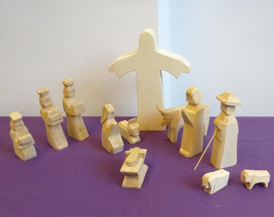 Godly Play - De Heilige Familie in de advent/veertigdagentijd. © Joke Vermeire