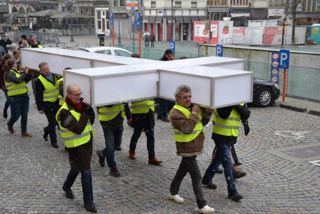 Op weg naar de Sint-Romboutskathedraal © Jeroen Moens