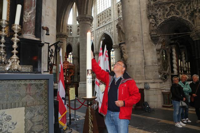 Voorzitter Jos Van Rompay bij de Sint-Gummaruskaars