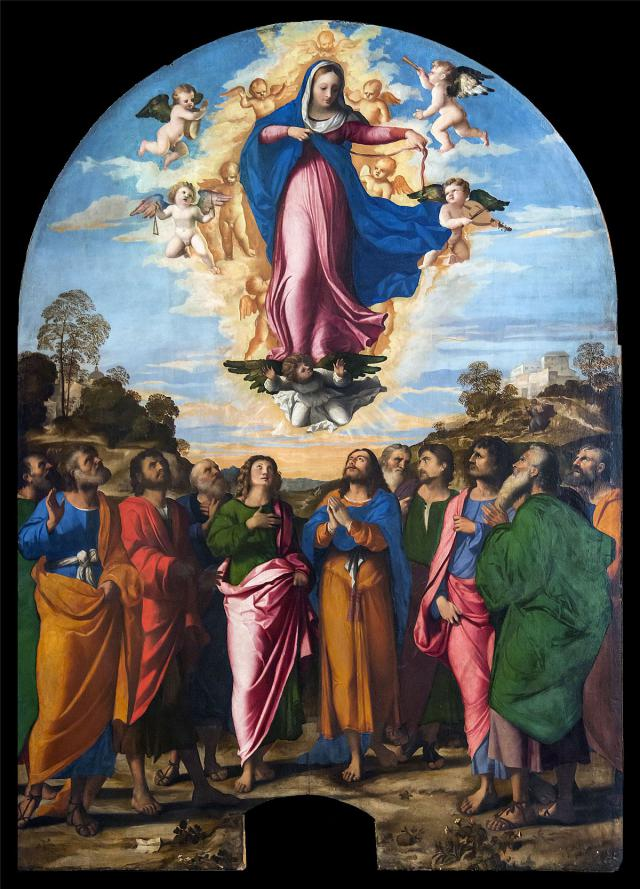 Tenhemelopneming van Maria, 1514, Palma Vecchio