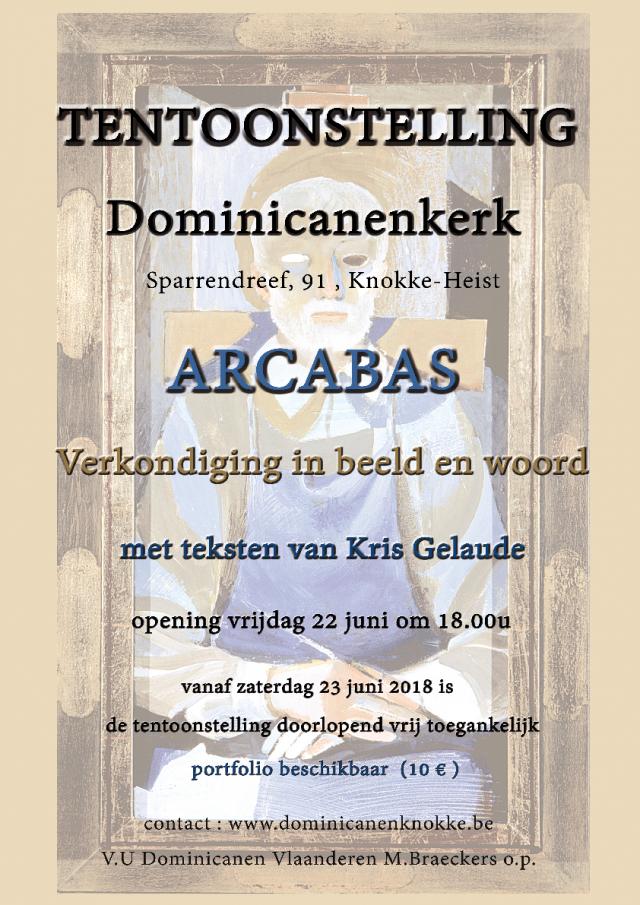 Affiche tentoonstelling Arcabas Dominicanen Knokke-Heist © Dominicanen