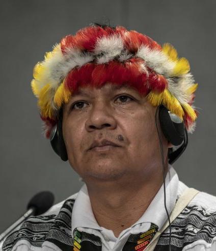 Diaz Mirabal vertegenwoordigt 4.500 gemeenschappen uit de Amazone. © SIR