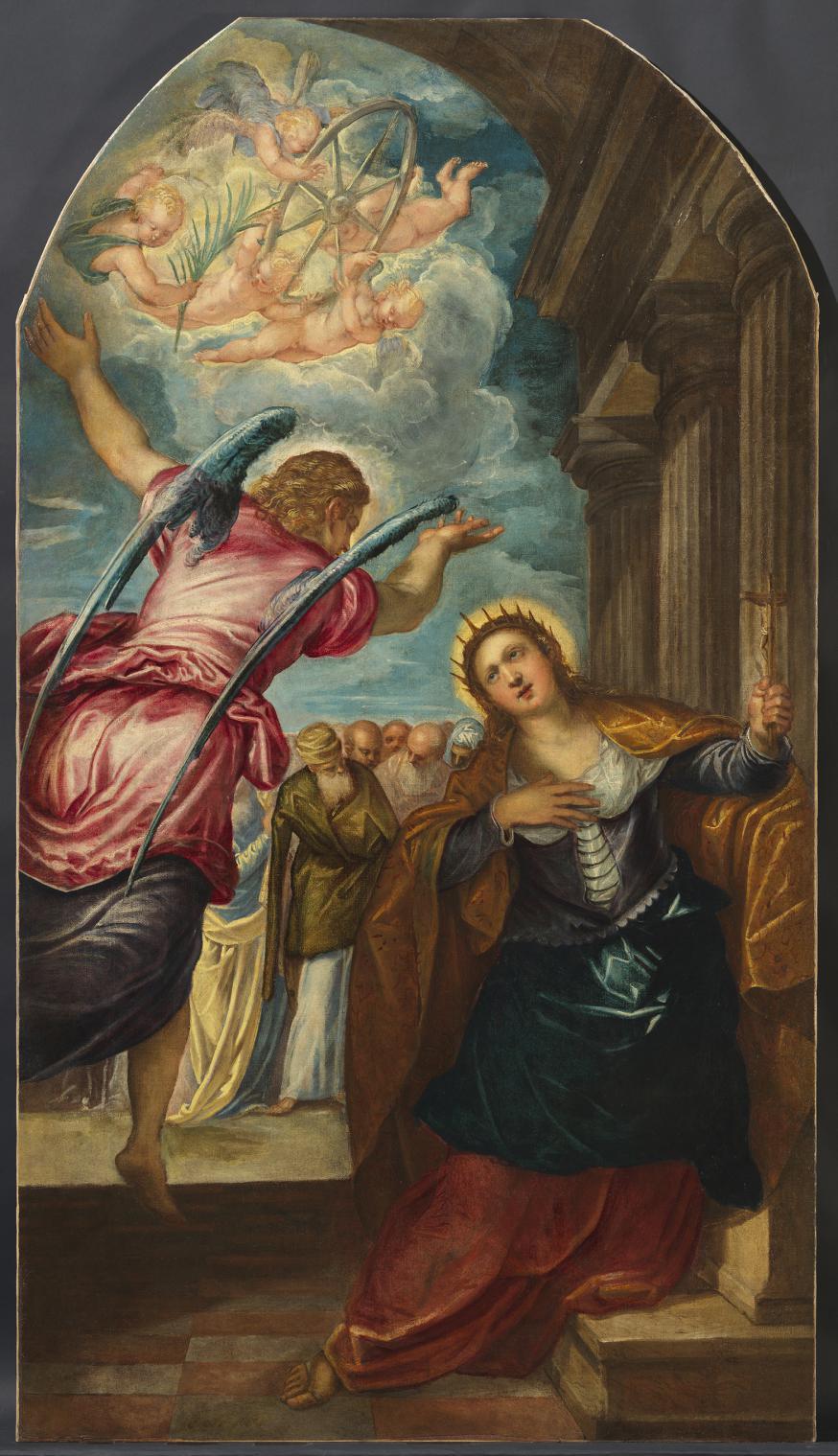 Het altaarstuk 'De Heilige Catharina' van Tintoretto. © Rubenshuis
