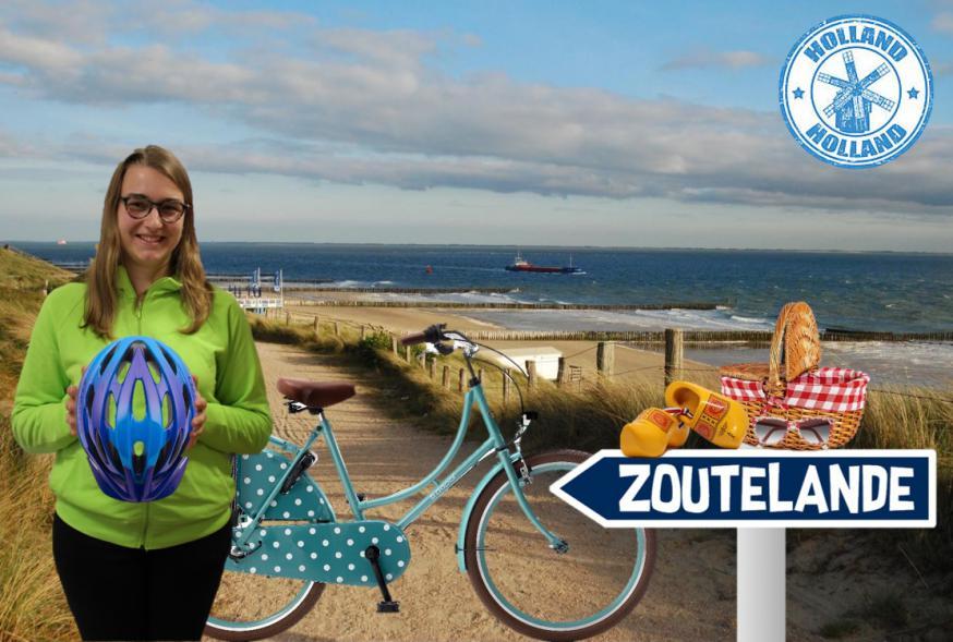 Anneleen haar fietshelm ligt al klaar voor deze zomer!