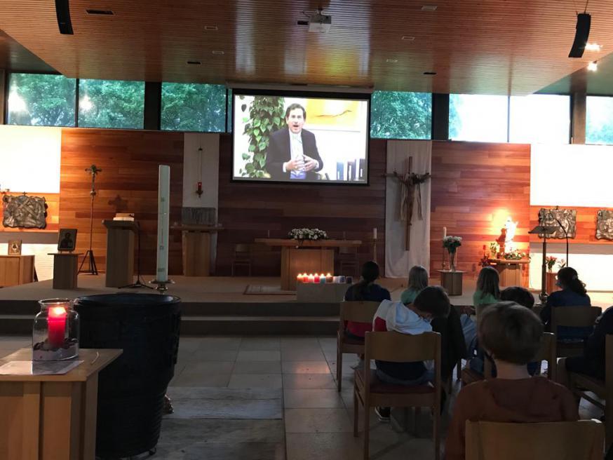 In de kerk van Anzegem
