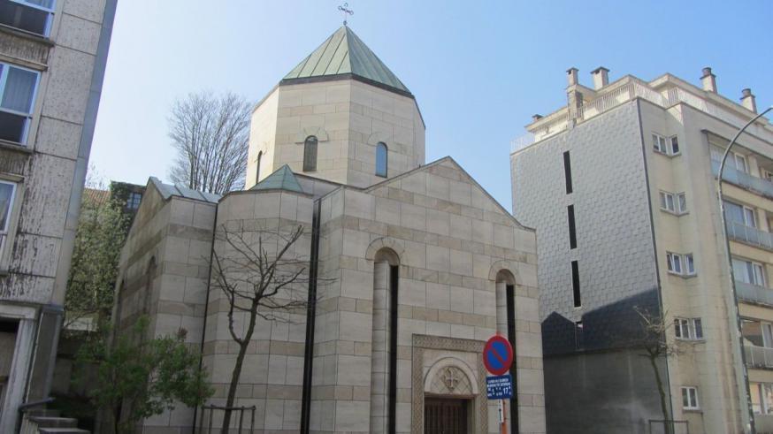 De Maria Magdalenakerk van de Armeens-apostolische Kerk in België in de Kindermansstraat in Elsene © Père Zadik