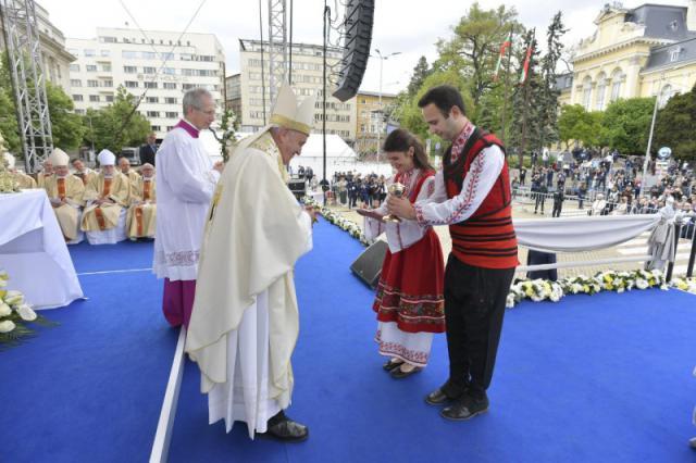 Eucharistie in Sofia © Vatican Media