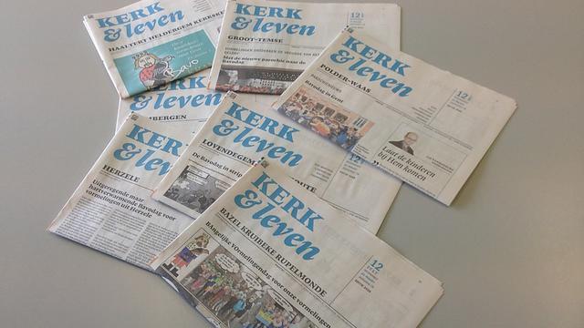 Zowat 58 lokale edities van Kerk & Leven namen deel aan de Bavodagactie. © Kerk & Leven