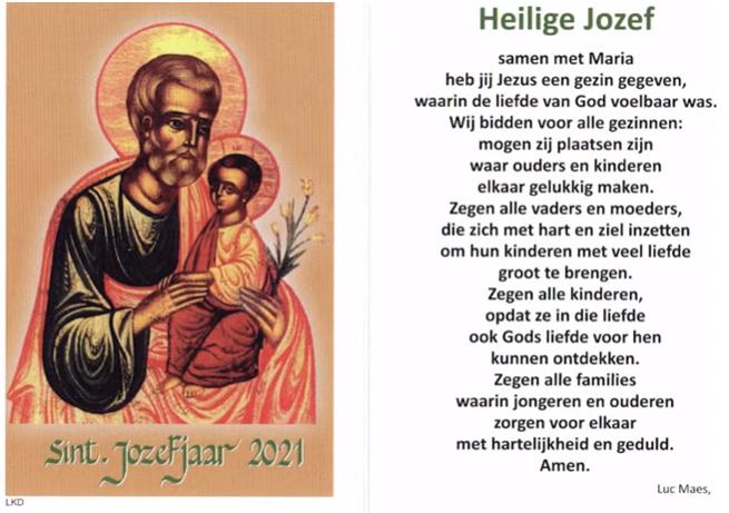 het naamfeest van Sint-Jozef