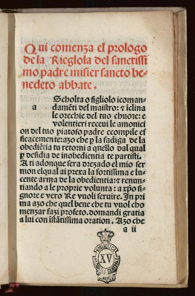 De Regel van Benedictus, uitgave uit 1495. © Wikipedia