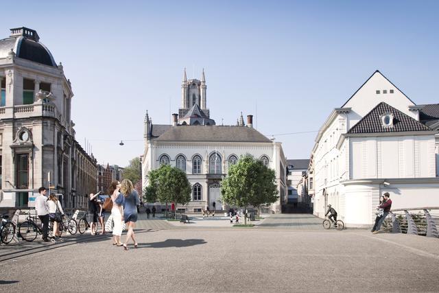 Bisdomplein heraangelegd © Stad Gent