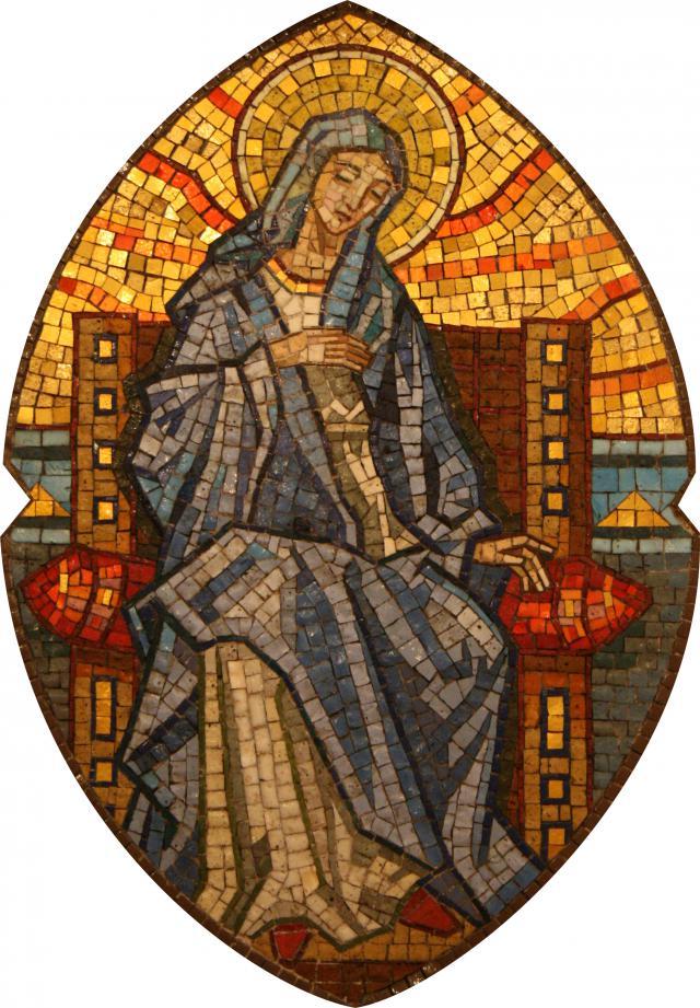 Maria, tronend in de hemel