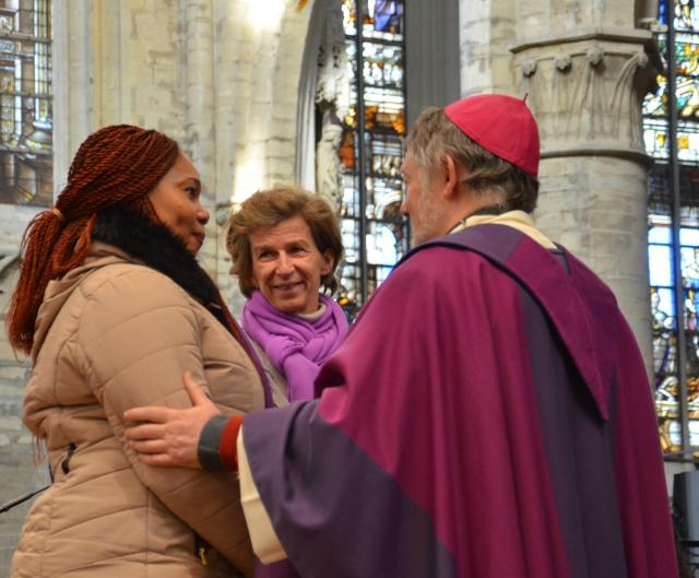 Uitverkiezing van de catechumenen in Brussel © Hellen Mardaga
