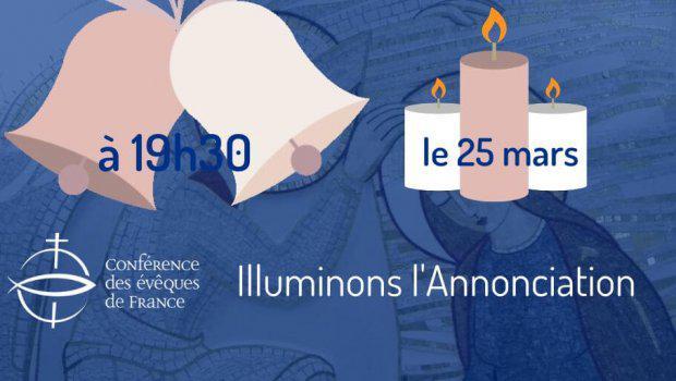 Op 25 maart worden in heel Frankrijk kaarsen gebrand en klokken geluid © CEF