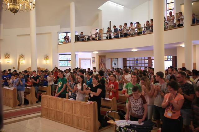 Eucharistieviering tijdens de WJD © IJD - Foto: Koen Van den Bossche
