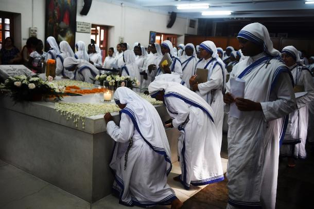 In het moederhuis van de zusters in Calcutta © UcaNews/Missionarissen van Naastenliefde