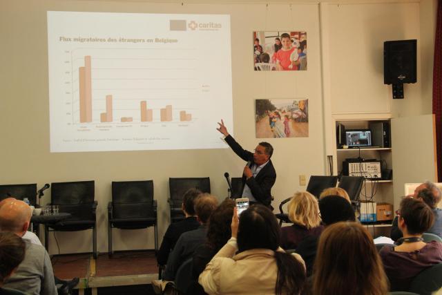 Debat na de voorstelling van het rapport in Brussel © Caritas International
