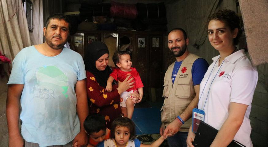 Caritas is zowel ter plaatse als in de gastlanden actief bij de opvang van vluchtelingen © Caritas International