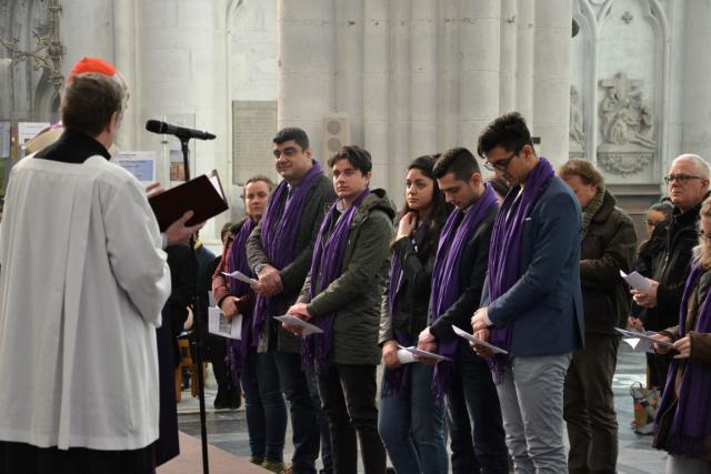 Uitverkiezing van de catechumenen in Mechelen  © Jeroen Moens