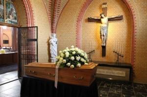Afscheid in het crematorium